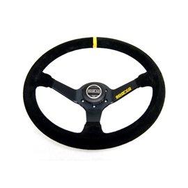 Sparco Racing 345 - Volant en Suede Noir de 350mm