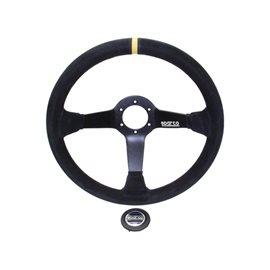 Sparco Racing 325 - Volant en Suede Noir de 350mm ( Super Profond )
