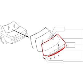 Nissan OEM - Moulure de vitre arrière pour Skyline R32 (GTR & GTS-T)