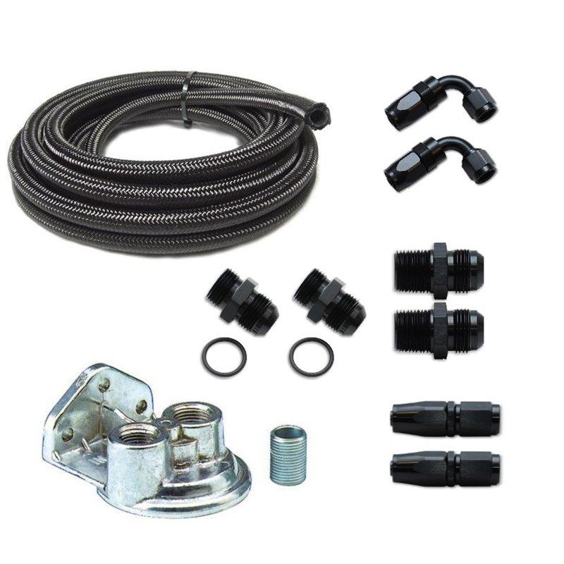 LS Oil Filter Relocation Kit (For LS Swap) - Nissan 240sx and Hyundai  Genesis - Elegant Drift Shop