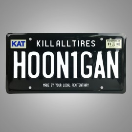 Plaque d'Immatriculation Hoonigan