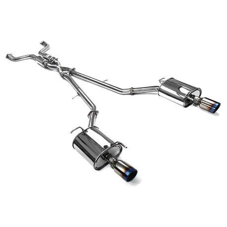 Invidia Q300 Catback Exhaust System, Rolled Titanium Tips - Infiniti G35 G37 Sedan