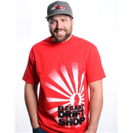 Elegant Drift Shop Man T-Shirt - Crest on side