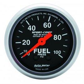 Jauge de pression d'essence Autometer MECH Sport-Comp