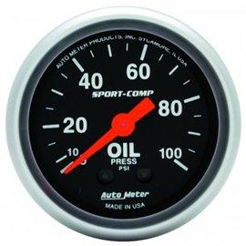 Jauge de pression d'huile Autometer MECH Sport-Comp