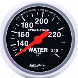 Jauge de température d'eau Autometer MECH Sport-Comp