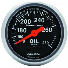 Jauge de température d'Huile Autometer MECH Sport-Comp