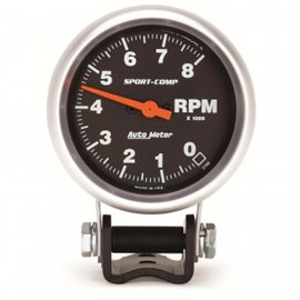 "Autometer 2-5/8"" TACH 8000RPM Sport-Comp"