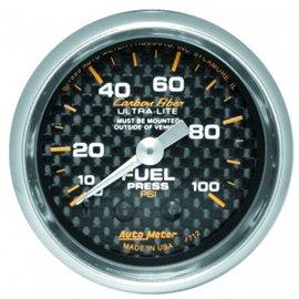 Autometer Fuel Pressure MECH Carbon Gauge