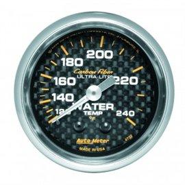 Jauge de température d'eau en carbone Autometer MECH