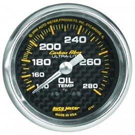 Autometer Oil Temp MECH Carbon Gauge
