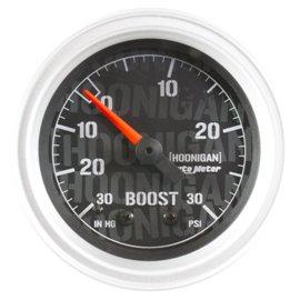 """Autometer 2-1/16"""" Boost 30 IN.HG to 30 PSI Mech HOONIGAN Gauge"""