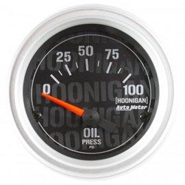 """Jauge de Pression d'Huile Électrique Autometer 2-1/16"""" 100 PSI HOONIGAN"""