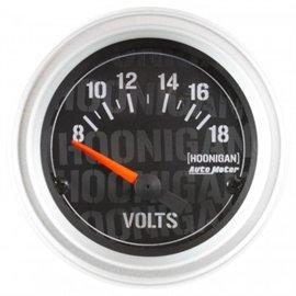 """Jauge Voltmètre Électrique Autometer 2-1/16"""" 18V HOONIGAN"""