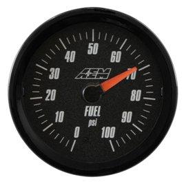 Jauge de pression d'huile/carburant AEM analogique
