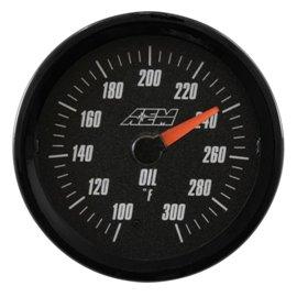 Jauge SAE de température d'huile/eau/transmission AEM analogique
