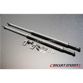 Circuit Sports - NISSAN S13 89-94 240SX AMORTISSEUR DE CAPOT MOTEUR CARBONE