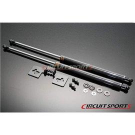 Circuit Sports - NISSAN S14 95-98 240SX AMORTISSEUR DE CAPOT MOTEUR CARBONE