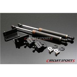 Circuit Sports - NISSAN Z34 2009+ 370Z CARBON ENGINE HOOD DAMPER