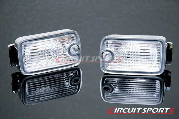 Circuit Sports Dual Posts Front Position Lights Set Compatible with 180SX Type X Bumper