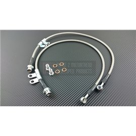 P2M - NISSAN Z33 350Z STEEL BRAIDED FRONT BRAKE LINES