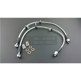 P2M - HONDA S2000 AP2 STEEL BRAIDED FRONT BRAKE LINES