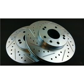 P2M - NISSAN Z32 SLOTTED / DRILLED FRONT BRAKE ROTORS (PAIR) 26/30MM