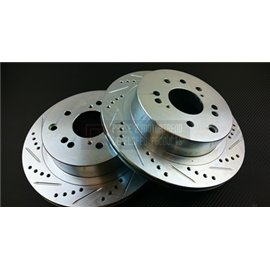 P2M - NISSAN Z32 SLOTTED / DRILLED REAR BRAKE ROTORS (PAIR)