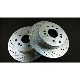 P2M - NISSAN Z33 SLOTTED / DRILLED FRONT BRAKE ROTORS (PAIR)