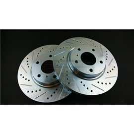 P2M - NISSAN Z33 SLOTTED / DRILLED REAR BRAKE ROTORS (PAIR)