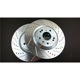 P2M - NISSAN Z33 SLOTTED / DRILLED FRONT BRAKE ROTORS (PAIR) (TRACK)