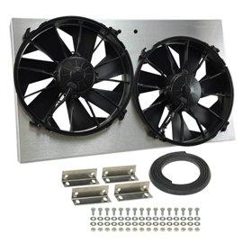"Derale High Output Dual 12"" Rad Fan Shroud Kit"