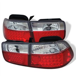 Spyder Tail Light Led Civic 96-00 2Dr Red Clear