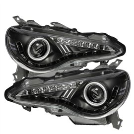 Spyder Headlight Projector BR-Z 12-14 Black