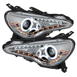 Spyder Headlight Projector Halo BR-Z 12-14 Chrome